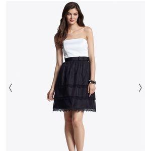 NWT WHBM silk colorblock dress size 4